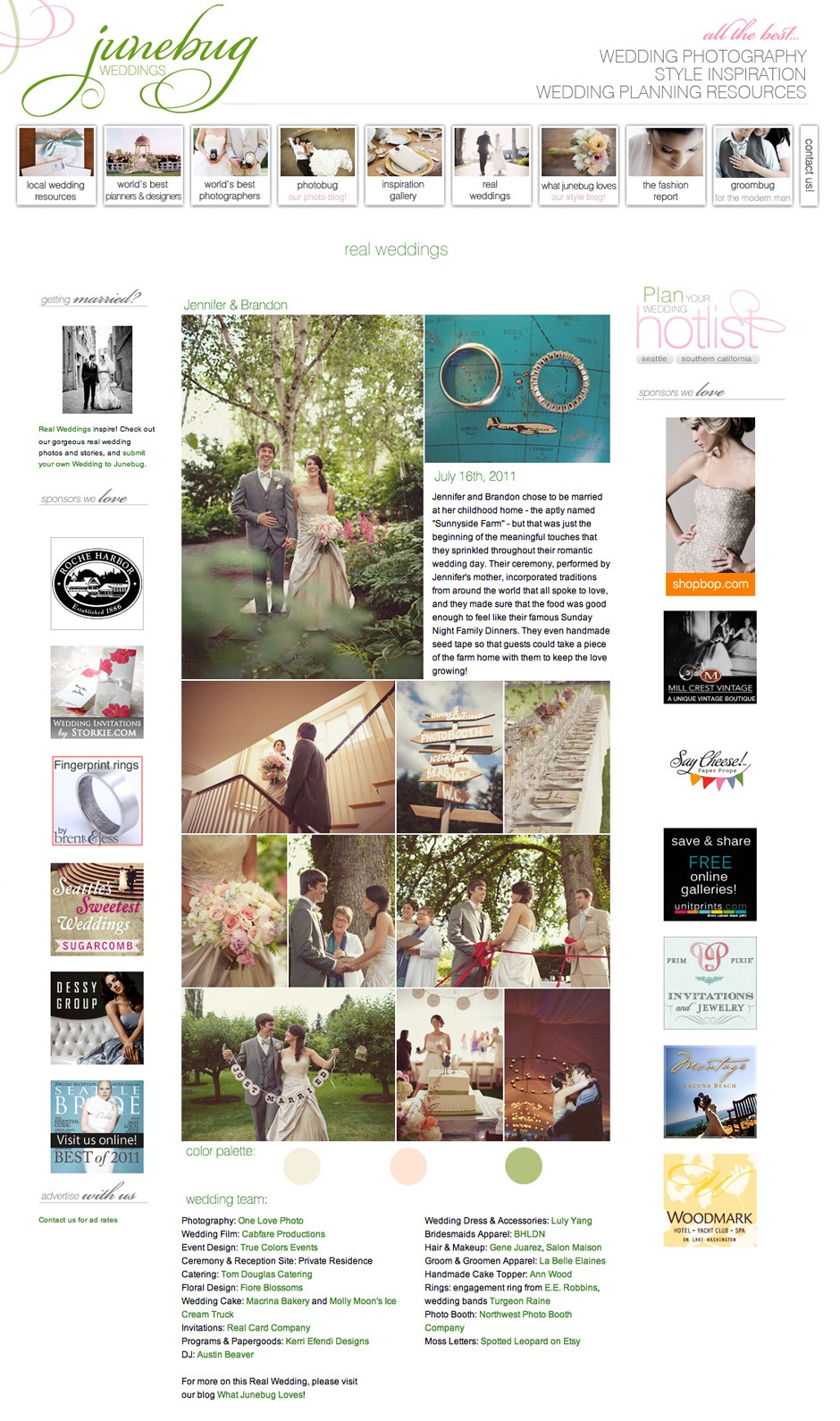 Featured . JuneBug Weddings
